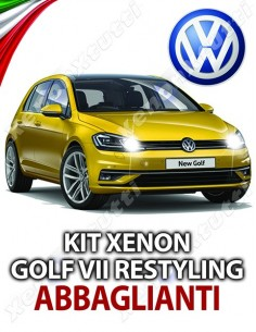 KIT XENON ABBAGLIANTI GOLF 7 VII RESTYLING SPECIFICO