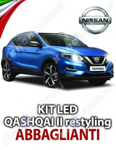KIT FULL LED ABBAGLIANTI NISSAN QASHQAI II RESTYLING SPECIFICO