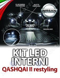 KIT FULL LED INTERNI QASHQAI II RESTYLING SPECIFICO