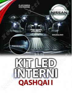 KIT LED INTERNI NISSAN QASHQAI I SPECIFICO senza tetto panoramico