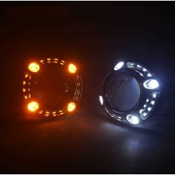 bi color white amber turn light position color led PANAMERA BIANCO AMBRA