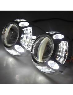 mask cover panamera led white angel eye anello bianco