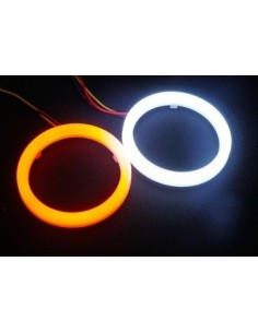 2 Angel Eyes LED COTTON 70 MM BIANCO ARANCIO