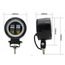 misure faro led 20w spot + angel