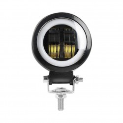 FARO MOTO LED 20W CON ANGEL EYE BIANCO