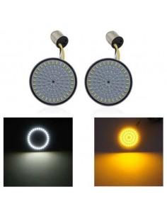 "Coppia LED Freccia + Angel eye 2"" 1157 PER HARLEY DAVIDSON"