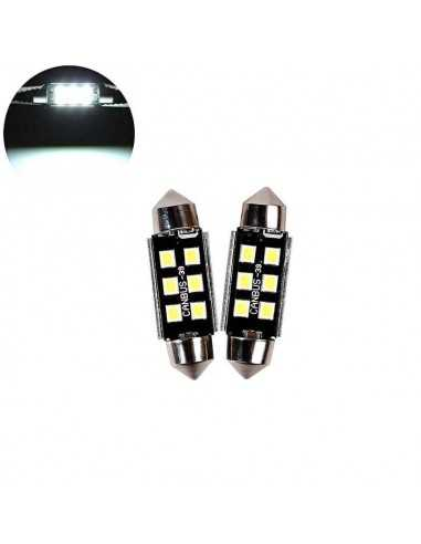 COPPIA LED FESTOON 36MM SILURO 24V 6...