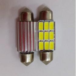 COPPIA LED FESTOON /SILURO 9 LED 5630 CANBUS