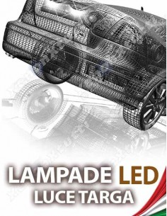 LAMPADE LED LUCI TARGA per FIAT 500 X specifico serie TOP CANBUS