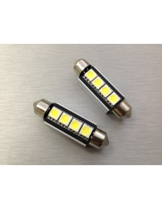 COPPIA LED FESTOON /SILURO 3 LED 42MM 5050 CANBUS