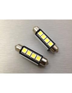 COPPIA LED FESTOON /SILURO 3 LED 42MM 5050 CANBUS