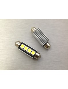 COPPIA LED FESTOON /SILURO 3 LED 41MM 5050 CANBUS