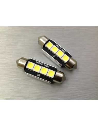COPPIA LED FESTOON /SILURO 4 LED 5050 CANBUS