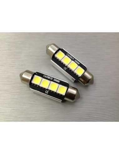 COPPIA LED FESTOON /SILURO 4 LED 5050 CANBUS