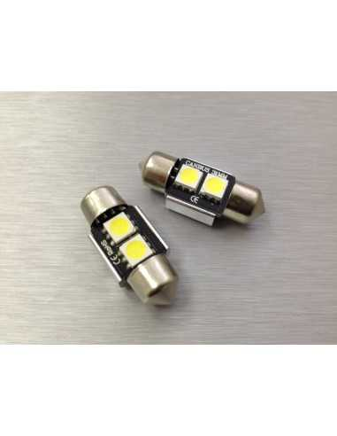 COPPIA LED FESTOON 31mm SILURO 2 LED 5050 CANBUS
