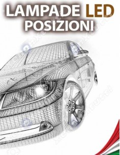 LAMPADE LED LUCI POSIZIONE per PEUGEOT Expert II specifico serie TOP CANBUS