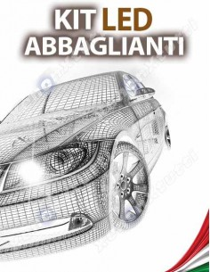 KIT FULL LED ABBAGLIANTI per TOYOTA Auris MK1 specifico serie TOP CANBUS