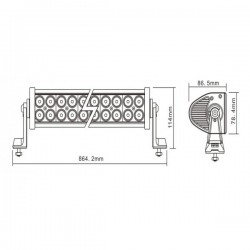 LED WORKING LIGHT 180W 9/32V PROFONDITA O DIFFUSO