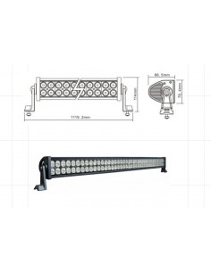 LED WORKING LIGHT 240W 9/32V PROFONDITA O DIFFUSO