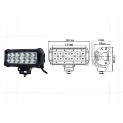 LED WORKING LIGHT 36W 9/32V PROFONDITA O DIFFUSO