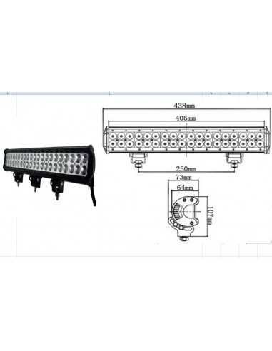 LED WORKING LIGHT 108W 9/32V PROFONDITA O DIFFUSO
