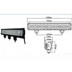 LED WORKING LIGHT 108W 9/32V PROFONDITA O DIFFUSO