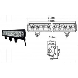 LED WORKING LIGHT 234W 9/32V PROFONDITA O DIFFUSO