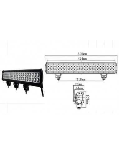 LED WORKING LIGHT 126W 9/32V PROFONDITA O DIFFUSO