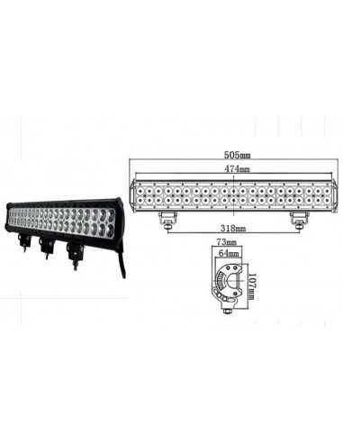 LED WORKING LIGHT 126W 9/32V PROFONDITA O DIFFUSO