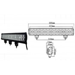 LED WORKING LIGHT 180W 9/32V PROFONDITA O DIFFUSO