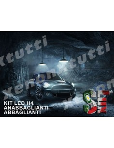 KIT FULL LED ANABBAGLIANTI ABBAGLIANTI H4 per MINI Cooper F55 F56 F57 specifico serie TOP CANBUS