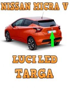 NISSAN Micra V LED LUCI TARGA