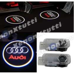 led specifico audi logo sotto porta