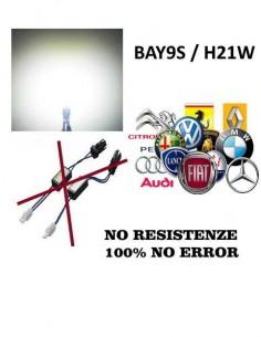 BAY9S LED 15 SMD  Super CANBUS Bianco