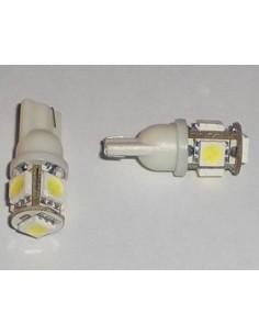 COPPIA DI LED T10 5 SMD 5050 NO CANBUS