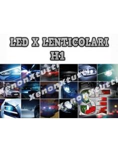 kit luci led lenticolare anabbagliante abbagliante H1 6000k canbus bixenon biled slux xenonpertutti