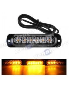 led strobo light 6 led with effect slim super light