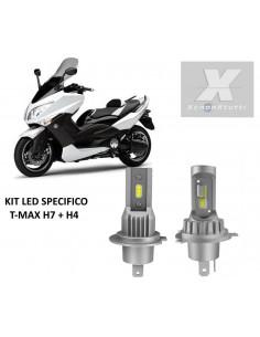 kit luci led t-max 500 con lampada h7 e h4 lumileds philips