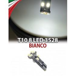 led T10 8 LED SMD 3528 No errore Canbus