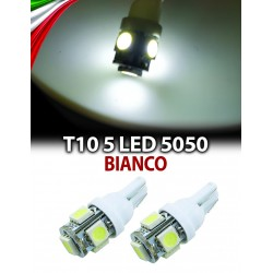 COPPIA DI LED T10 5 SMD 5050 NO CANBUS