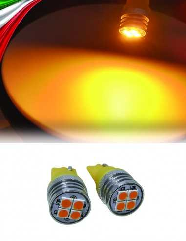 T10 4 LED ARANCIO 3030