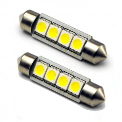 COPPIA LED FESTOON /SILURO 4 LED 5050