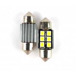Coppia Siluri 31MM LED CANBUS 6 Smd 3030S UPER-LUMINOSI SILURI