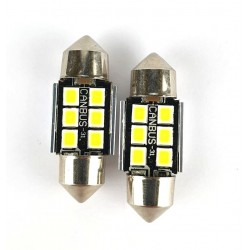 2 SILURO 3030 6 31MM LED CANBUS SUPER-LUMINOSI SILURI