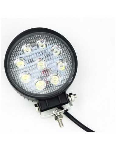 LED WORKING LIGHT 27W 9/32V PROFONDITA O DIFFUSO