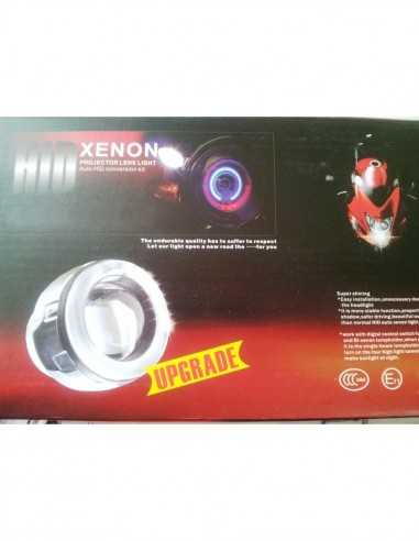 Proiettore Bixenon Lenticolare Con Angel Eye Per Moto