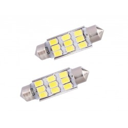COPPIA LED FESTOON /SILURO 9 LED 5630 CANBUS