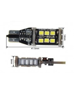 2 LED T15 CANBUS T15 W16W 800 lumens 6W ODB Canbus - nera