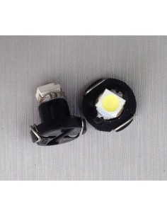 COPPIA LAMPADINA  LED T3 1 Smd Bianco Luci Cruscotti e Strumentazioni 12V DC