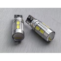 COPPIA 2 LED T10 CANBUS 10 LED 5630